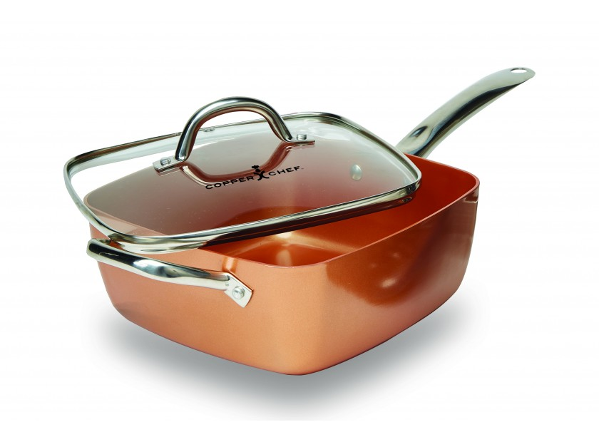 Set 5 pieces po le carree copper chef bestoftv - Poele de top chef ...